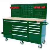 George Tools gevulde Mobiele Werkbank 62 inch British Racing Green  - 156 delig