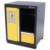 Kraftmeister prullenbak met papierrolhouder geel - Nextgen