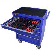 George Tools gereedschapswagen gevuld 6 lades 80 delig blauw