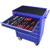 George Tools gereedschapswagen gevuld 6 lades 144 delig blauw