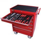 George Tools gereedschapswagen gevuld 6 lades 144 delig rood