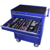 George Tools Gereedschapswagen gevuld 7 lades 253 delig blauw