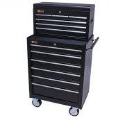 George Tools gereedschapswagen met kist 12 laden zwart