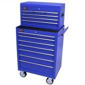 George Tools gereedschapswagen met kist 13 laden blauw