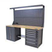 Kraftmeister werkbank 200 E6DO gereedschapswand Platinum