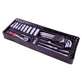 George Tools inlay 1 - Ratel en doppenset 61 delig