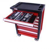 George Tools gereedschapswagen gevuld - Redline -206 delig