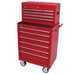 George Tools gereedschapswagen met kist 12 laden rood