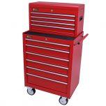 George Tools gereedschapswagen met kist 10 laden rood